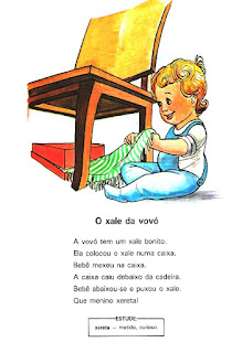 Leitura antiga para alfabetização