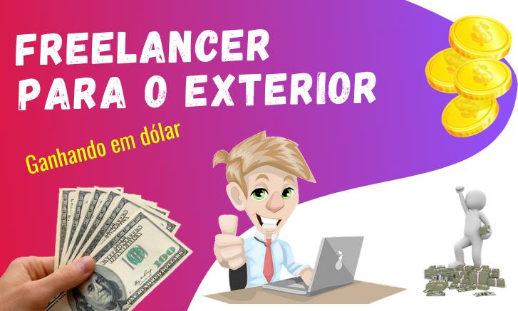 trabalho como freelancer que ganha em dólar