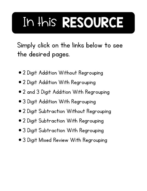 https://www.teacherspayteachers.com/Product/2-3-Digit-Addition-Subtraction-With-and-Without-Regrouping-4218841