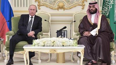 Russian President with Saudi Arabia King. PHOTO | CNN