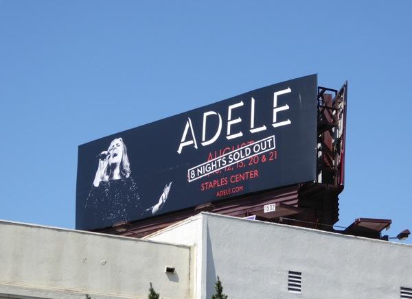 Adele Sold out LA concerts billboard