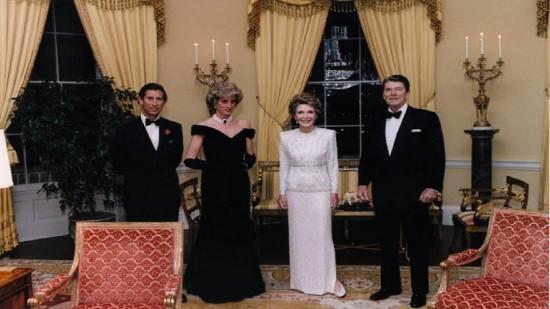 Lady Di και ο σύζυγός της μαζί με τον πρόεδρο των Ηνωμένων Πολιτειών Ronald Reagan