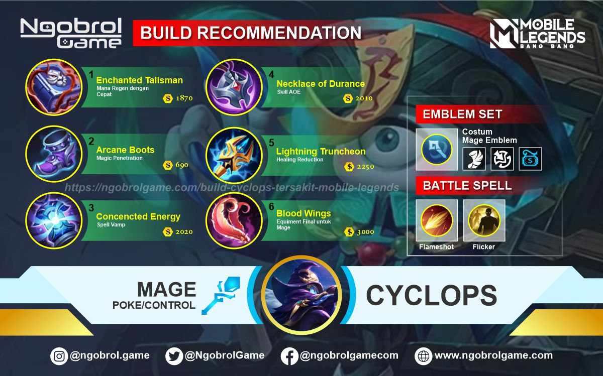 Build Cyclops Savage Mobile Legends