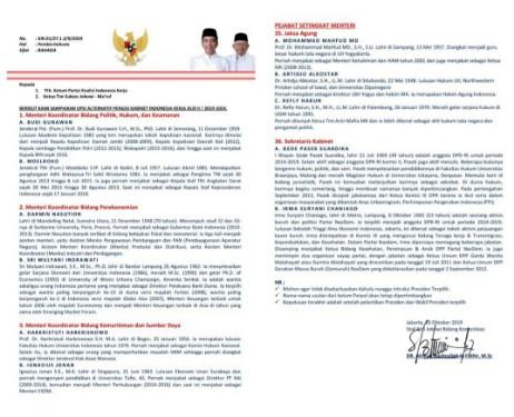 Dokumen Kabinet Jokowi Yang Beredar Itu Palsu