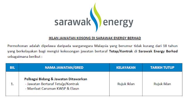 sarawak energy jobs