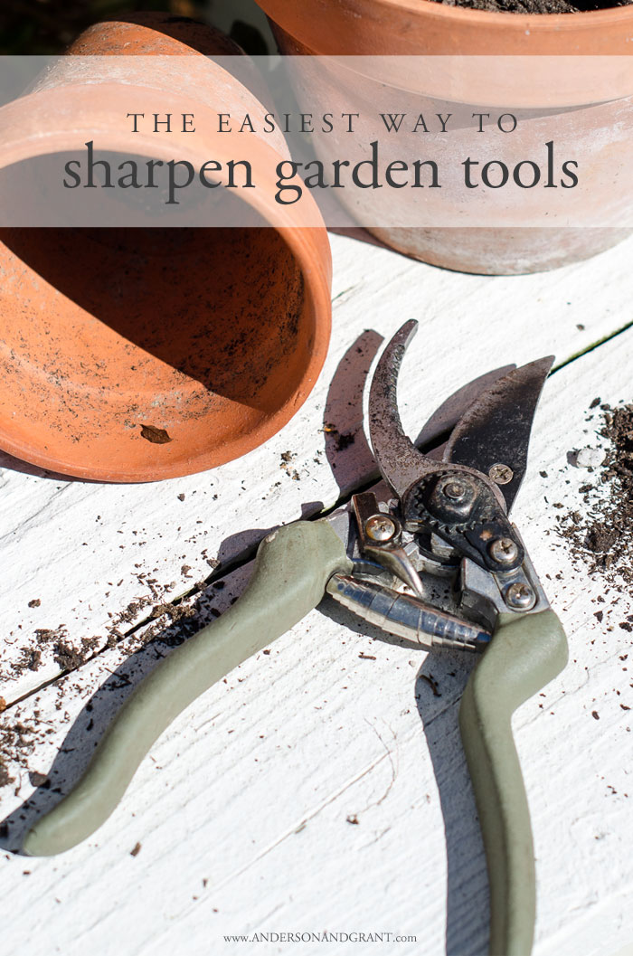 Keeping your garden tools sharp is important for the health of your garden and landscaping.   Find out about one simple gadget you can use to effortlessly maintain a sharp blade.  #gardentools #usefultools #gardening #helpfultips