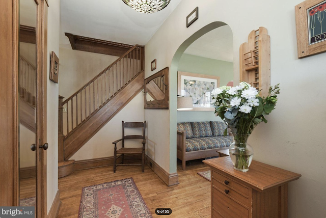 color photo of hallway and stairs of Sears Kilbourne 4219 Nicholson Street, Hyattsville, Maryland