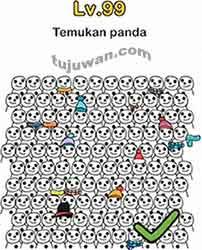 Jawaban Brain Out Temukan Panda Level 99