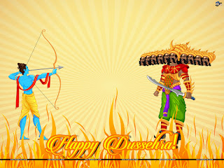 Ram and Ravan - Happy Dussehra