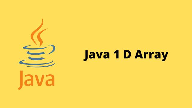 HackerRank Java 1D Array problem solution
