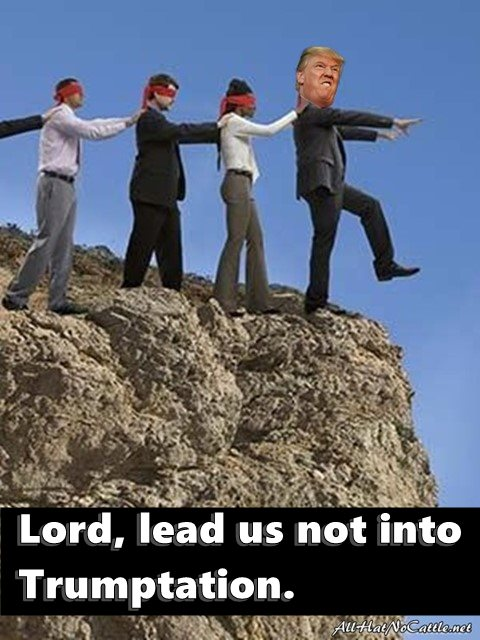 All Hat No Cattle: Trumptation Obama Lemmings Jumping Off A Cliff