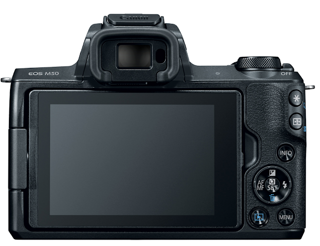 Canon EOS M50 Mirrorless Camera Back / LCD View