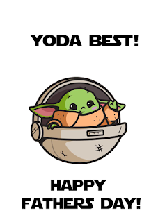 baby yoda fathers day card