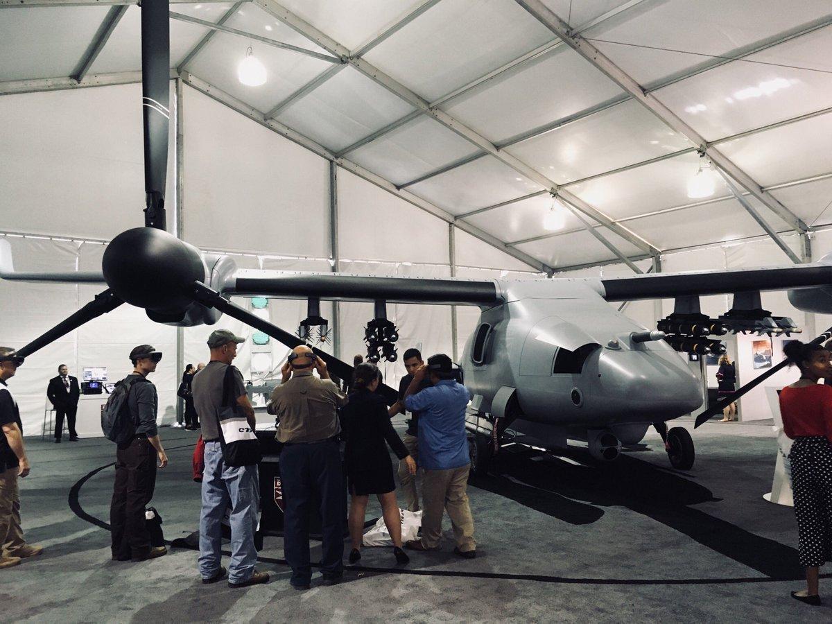 компанія Bell представила повнорозмірний макет перспективного ударного безпілотного конвертоплана V-247 Vigilant
