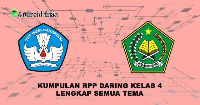 RPP daring kelas 4 semua tema, rpp 1 halaman kelas 4 lengkap, rpp k13 1 lembar kelas 4