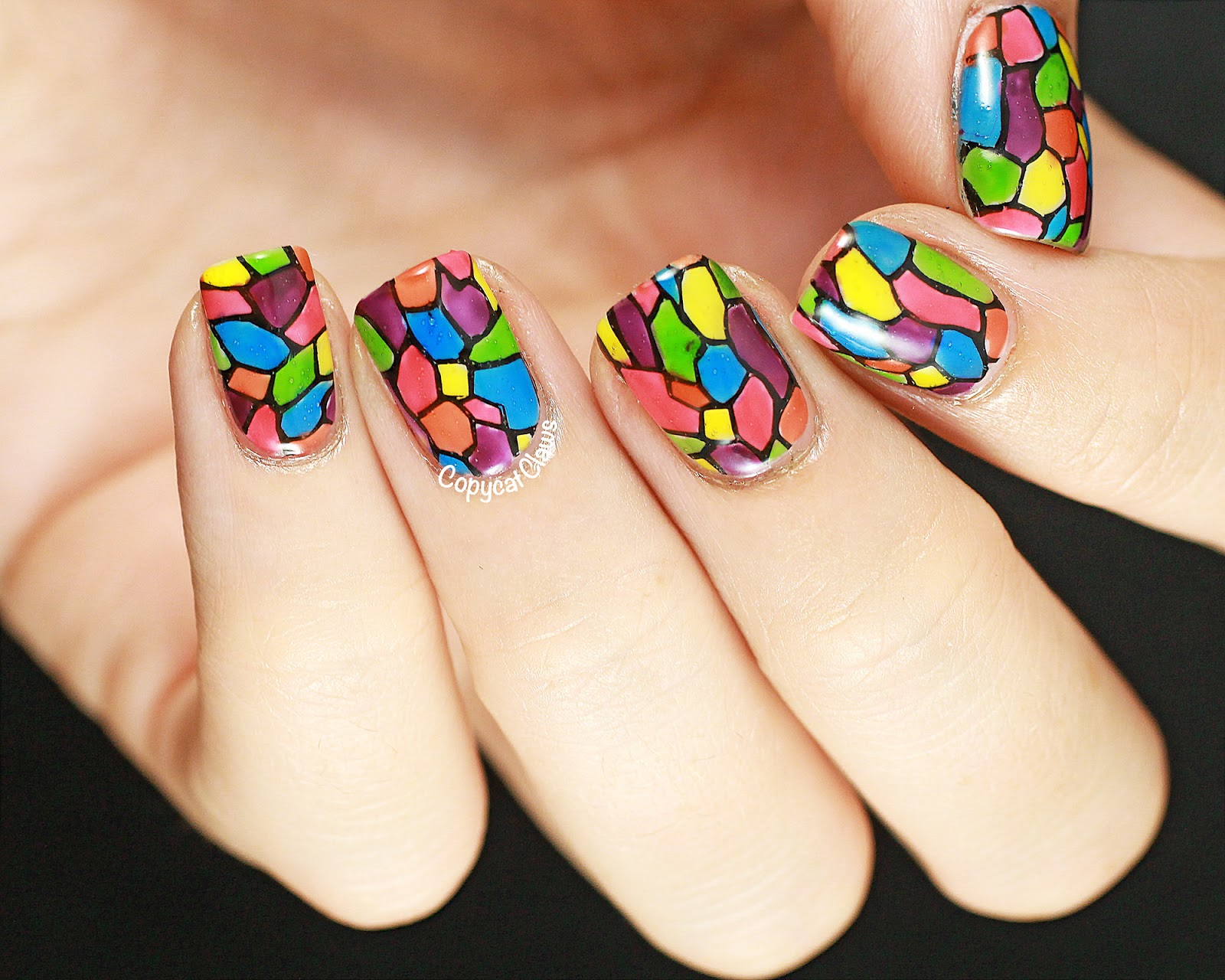 Copycat Claws: Stained Glass Nail Art