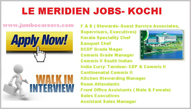 Lates Job Openings at Kochi Le Meridien