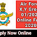 Air Force X,Y Group 01 / 2021 Online Form 2020