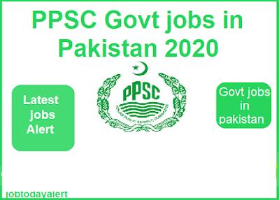 PPSC-Latest-Jobs-2020, PPSC-government-job-in-Pakistan, Latest-jobs-job-Alert
