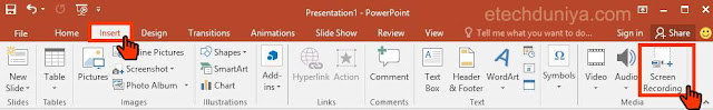 how to start screen recording on powerpoint