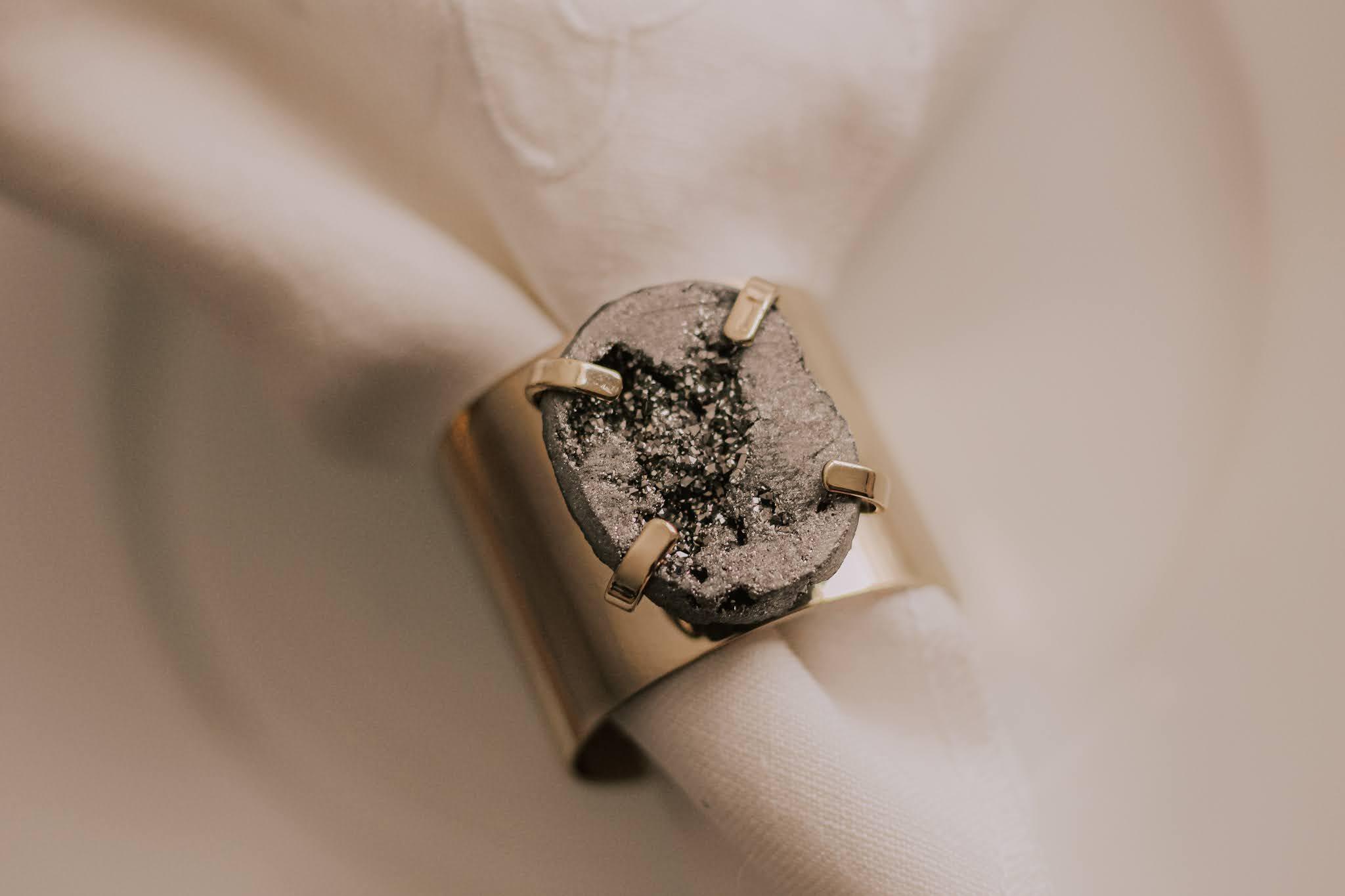 Joanna Buchanan Druzy Stone Napkin Rings
