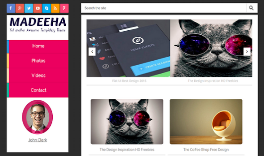 Madeeha Responsive Blogger Template