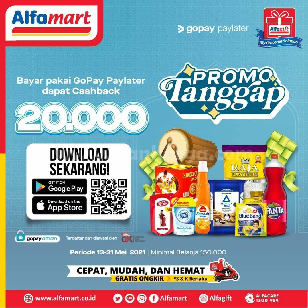 Promo ALFAMART Spesial Lebaran - Cashback Rp. 20.000 Bayar pakai GOPAY Paylater