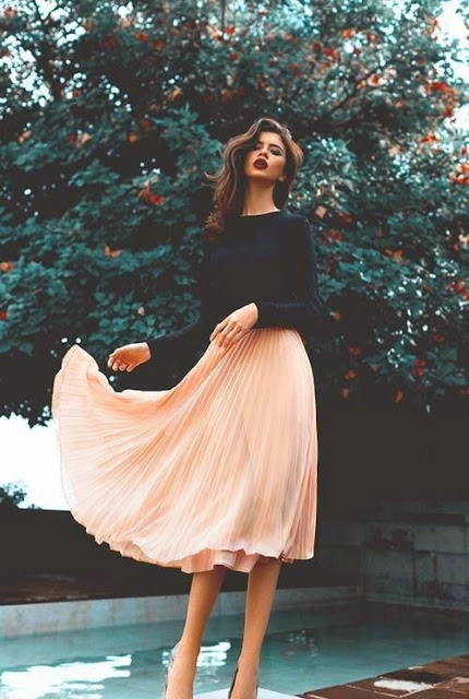 Beautiful Trendy Classy Skirt top design ideas photos for Party - WallpaperDPs