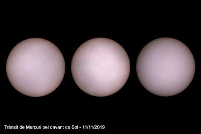 Trànsit de Mercuri pel davant del Sol - 11/11/2019