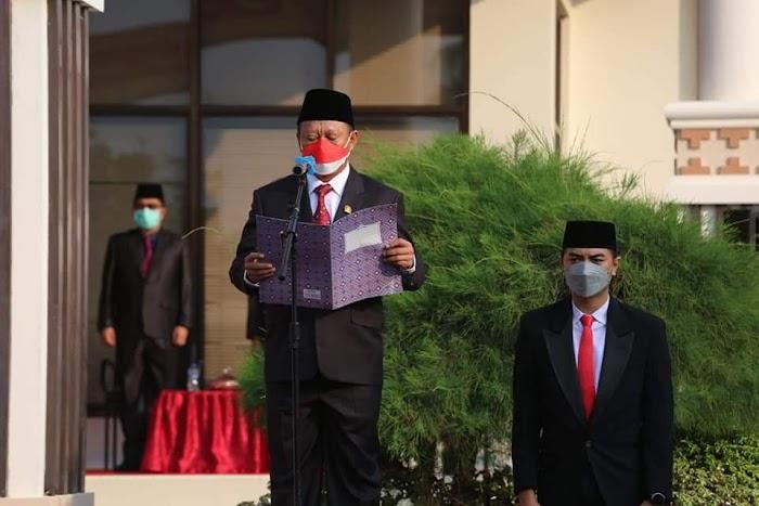 Ketua DPRD Lampung Selatan Bacakan Naskah Proklamasi