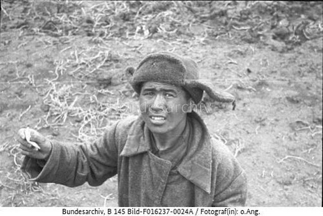 Soviet soldier surrendering in Crimea, May 1942 worldwartwo.filminspector.com