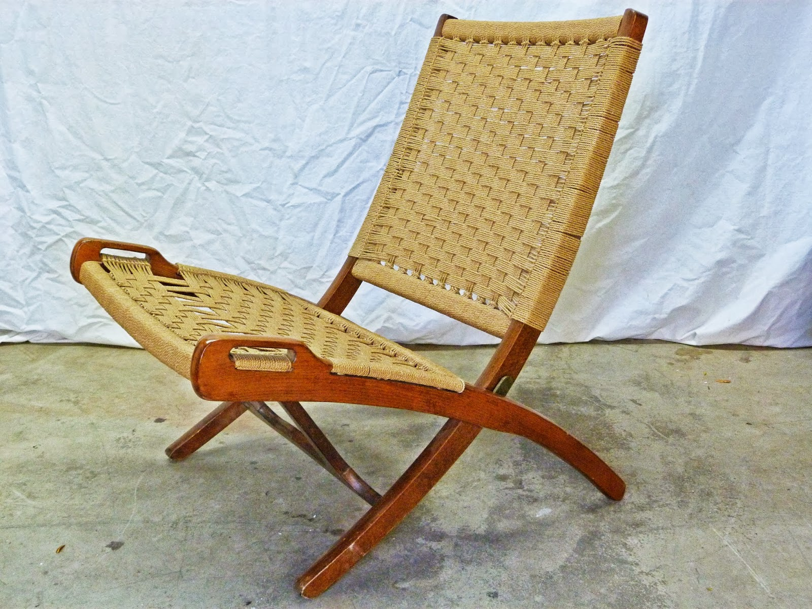 Rope Chair Target Twin Sleeper Mattress Antiques Modern Mid Century Danish Vintage Retro And