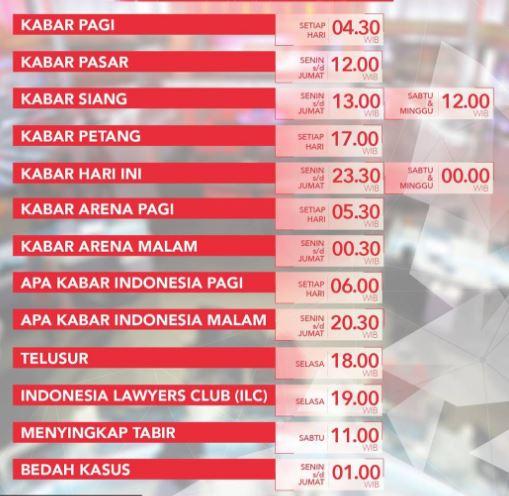 Indonesia Lawyer Club Setiap Hari Apa