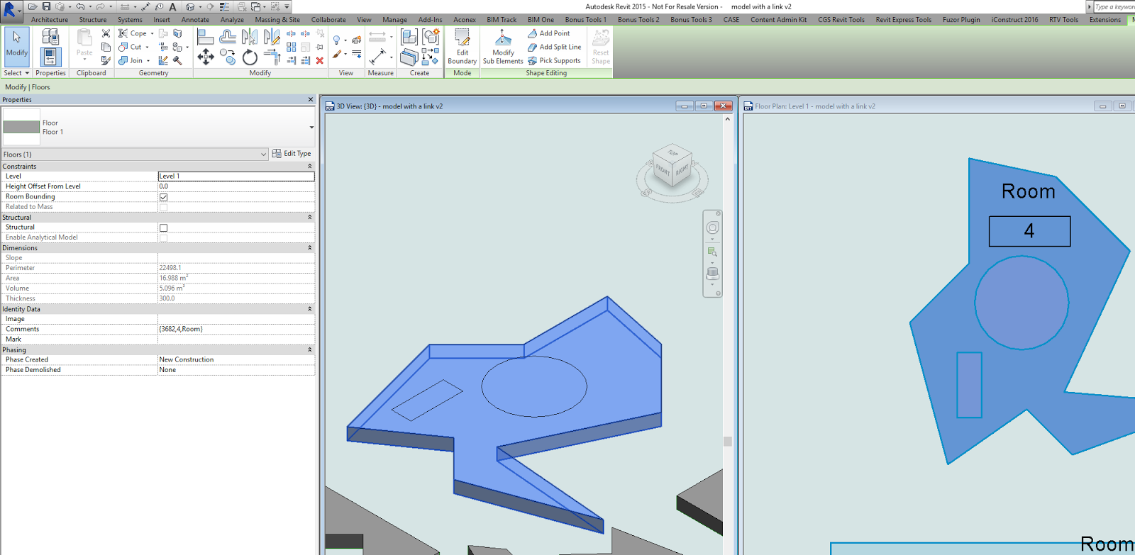 What Revit Wants: Create Floors from Rooms across Multiple