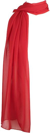 Plain Red Chiffon Scarves Shawls Wraps