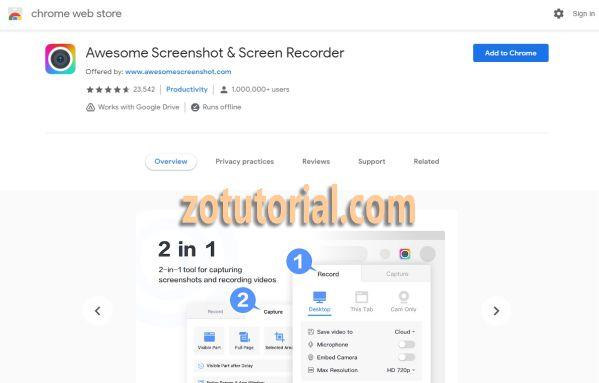 Cara Screenshot Panjang di Laptop/PC by zotutorial.com