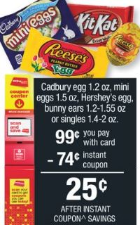 Cadbury egg  cvs deal