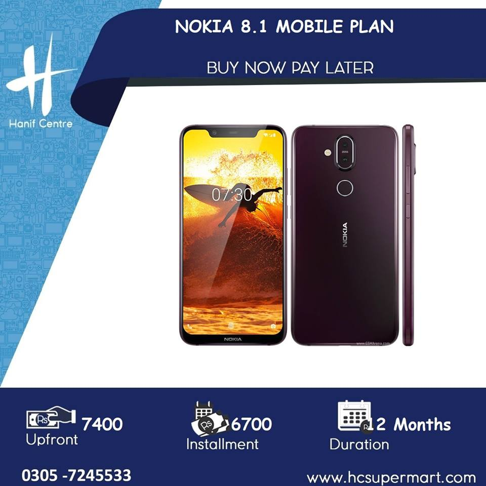 Mobile On Installments: Nokia 8 1 Mobile on Installments