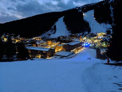 View from the Grotte Ski Run just above Madonna di Campiglio.