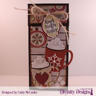 Stamp/Die Duos: Deer Ornament, Cocoa & Coffee Paper Pad: Retro Christmas,   Custom Dies: Treat Tower, Mini Tags