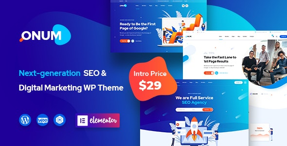 SEO & Marketing Elementor WordPress Theme