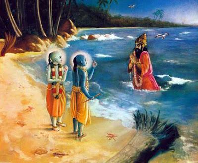 Samudra addresses Krishna and Balarama