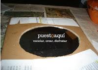 Cómo reutilizar un espejo, puestoaqui.blogspot. blog con ideas para reciclar