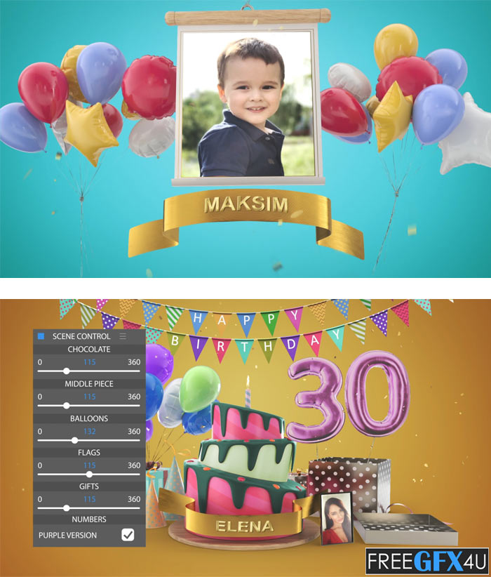Happy Birthday After Effects Project Files