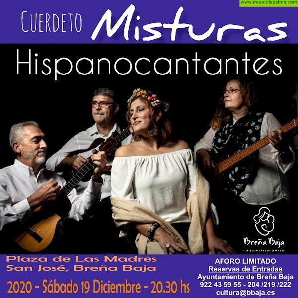 """NAVIDAD BREÑA BAJA: Cuerdeto Misturas presenta """"Hispanocantantes"""""""