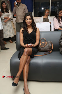 Telugu Actress Kamna Singh Stills in Black Dress at Bharat Thakur Art Exhibition Launch  0186.jpg