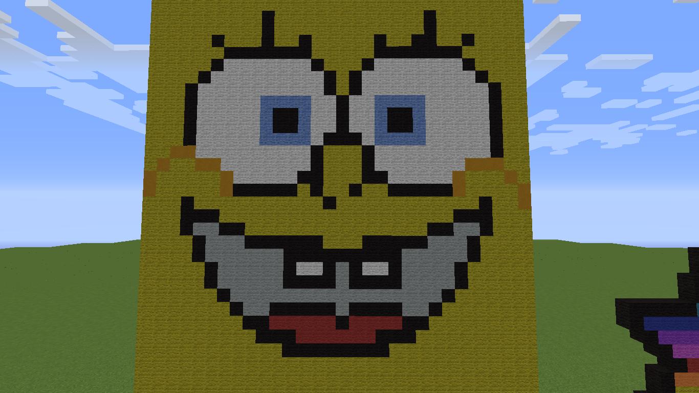Risha S Minecraft Blog Big Spongebob Pixel Art