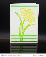K1-1347 - embossed Daffodil - Wiebke Kommerell