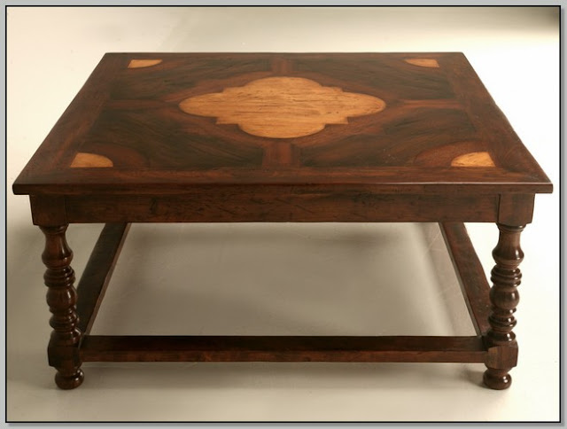 Dark Wood Coffee Table For Sale