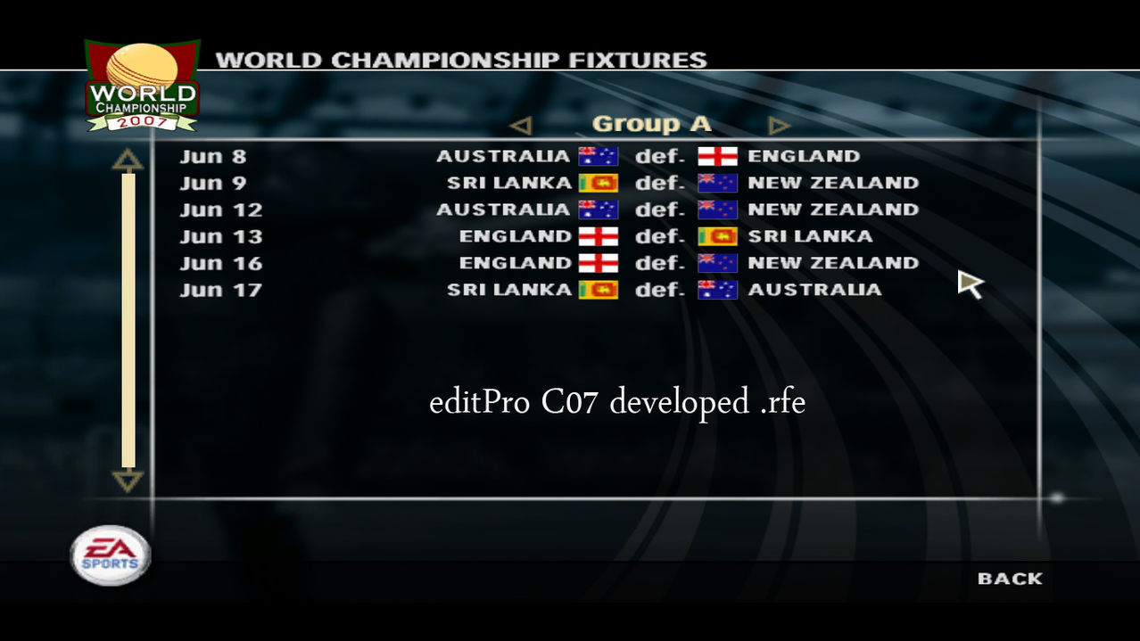 ICC Champions Trophy 2013 Realistic Fixture for EA Cricket